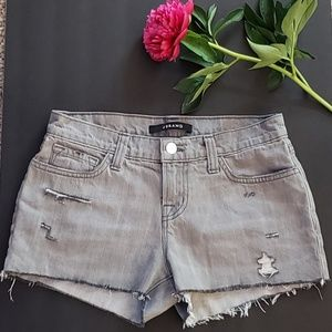 J Brand Hilo Cut Off Grey Denim Shorts